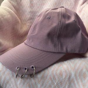 Purple pierced baseball cap 💜